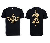 The Legend Of Zelda Breath Of The Wild Cosplay T-Shirt Black 100% Cotton Tee