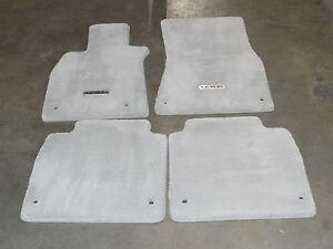 New OEM Lexus LS460 LS600H 2007-2012 AWD LWB Floor Mats Alabaster front rear set