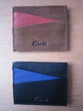 CLARKS LEATHER ROOK EDGE CARD HOLDER RRP £15**NEW FREE P&P**