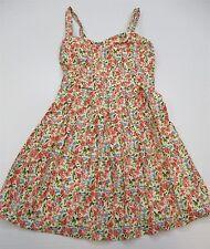 DELIA'S #DR899 Women's Size 5 100% Cotton Retro A-line Floral Ivory Sundress