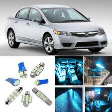 9×ICE Blue LED Interior Light Package Kit for Honda Civic 2013-2016