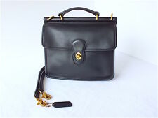 Vintage Coach Willis Cross Body/ Satchel Black Leather #A7C-9927 Made in USA