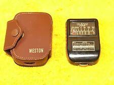 ***PERFECT*** VINTAGE WESTON MODEL 853 EXPOSURE METER with ORIGINAL FACTORY CASE