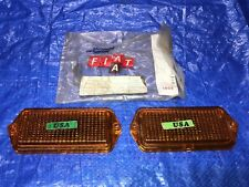 1972 Fiat Spider RIGHT and LEFT Corner Marker Light Side Lamp Parking light OEM