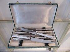 12 couteaux de table métal argenté rocaille (dinner knives) EB (lb)