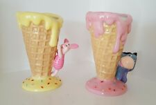 Disney Eeyore and Piglet Waffle Ice Cream Cone Bowls