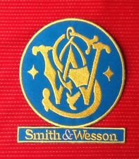 SMITH & WESSON PISTOL RIFLE GUN MILITARY FIREARMS BADGE IRON SEW ON PATCH S&W