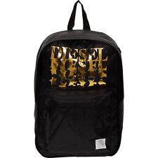 DIESEL Backpack, Black & Gold, Laptop Sleeve, 40 x 27 x 12 cm
