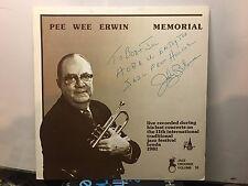PEE WEE ERWIN -Memorial ~JAZZ CROONER 282958 {nm orig} [SIGNED BY BLOWERS] >NICE