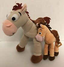 "(2) Toy Story BULLSEYE Horse Plush Disneyland Disney World LOT Poseable 10"""