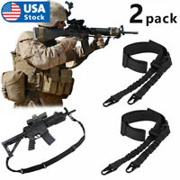 2PACK Adjustable Tactical 2 Dual Two Point Padded Bungee Rifle Gun Sling Strap