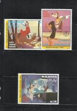 MALDIVAS. Año: 1992. Tema: WALT DISNEY.