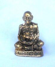 Figur Mönch monk Thailand thai (2) 3x1,8x1 cm Messing brass