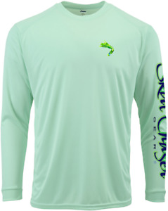 Men's Long Sleeve Seafoam Mahi UPF 50+ Microfiber Performance Fishing Shirt