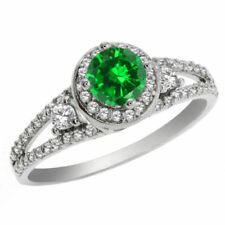 Emerald Emerald Sterling Silver Fine Rings