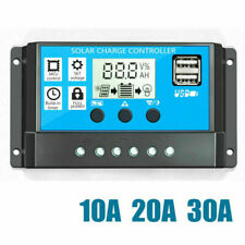 10/20/30A Dual Usb Solar контроллер заряда аккумулятора регулятор 12/24V авто Wj