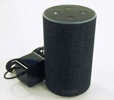 Amazon Echo 2nd Generation Charcoal Fabric with Original Box Pre-owned
