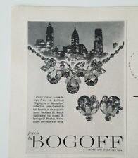 1959 BOGOFF Park Lane Manhattan collection necklace earrings jewelry ad