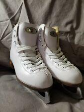 Girls Figure Skate - Riedell Junior w/ Eclipse Gr4 Blades White - size 1
