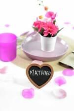 Cadre COEUR Ardoise CHOCOLAT Décoration de Table Mariage Baptême fête