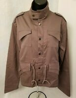 Coofandy Womens Grayish Purple Zipper Snap Front Jacket Coat Size S