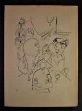 George GROSZ (1893-1959) - TRIO - Lithographie 1922/23 -  Ecce Homo Blatt 74
