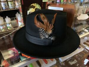 Black Fedora Hat With Feather