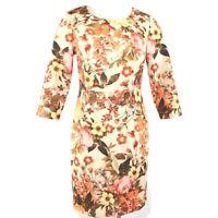 Talbots Dress Size 6 Petite Womens Antique Vintage Floral Print Lined Sheath