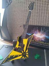 OZ FOX - Yellow and Black Eclipse 1:4 Replica Guitar ~New