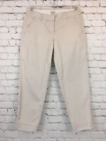 Womens J. Crew Size 2 Beige Capri Dress Pants City Fit Stretch Cropped Chino