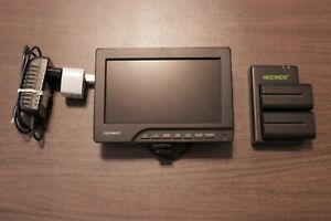 Used Feelworld 7 Inch Video Monitor with Neewer Batteries & Charger