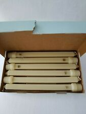 """Nib~6 Partylite 10"""" D40513 Unscented Pale Olive Taper Candles~Retired"""