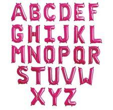 16 Inch Magenta Pink Letter Mylar Foil Balloon