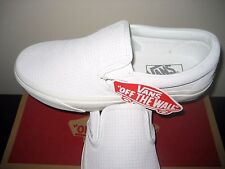 Vans Classic Slip on Womens Braided Suede Blanc De Blanc White shoes Size 7 NWT