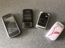Job Lot 4 Vintage Mobile Phones Nokia 5228 Samsung C3050 Siemens CL75 Sendo M550