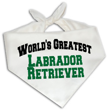 World's Greatest Labrador Retriever - Dog Bandana One Size Fits Most - Breed