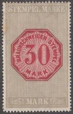 Brunswick Braunschweig Revenue Erler #36a mint 30M wmkd light brownish gray 1907