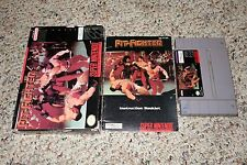 Pit-Fighter (Super Nintendo Entertainment System SNES, 1992) Complete GOOD H