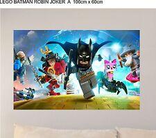 LEGO BATMAN ROBIN JOKER  A WALL ART SELF ADHESIVE VINYL 100cm WIDE