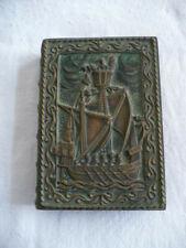 Coffret en bronze en forme de livre décor bateau signé Max Le Verrier