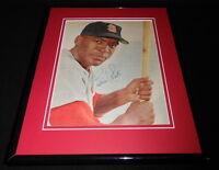 Bill White Signed Framed 11x14 Photo Display Cardinals