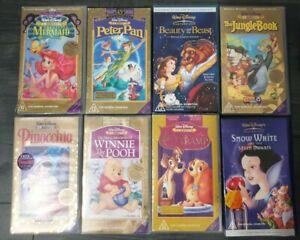 Bulk Lot Walt Disney Classics VHS Collectors Edition RETRO MASTERPIECE SEE STORE
