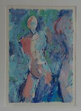 Artista svedese-Anette Englund-atto femminile-modello-PERSONAGGIO-farblitho