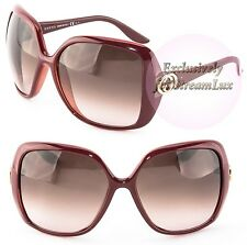 GUCCI Fashion Butterfly Oversized Burgundy Red Sunglasses GG 3167S ACPK8