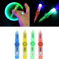 LED Spinning Pen Fidget Spinner Hand Top Glow In Dark EDC Stress Relief Toy 2019