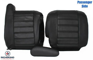 2003-2007 Hummer H2 SUV SUT -Passenger Side Complete Leather Seat Covers Black