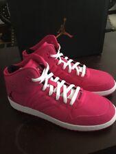 Junior Girls Nike Air Jordan 1 Flight 4 GG Hi Top Pink Shoes Size 10.5 / 9 Youth