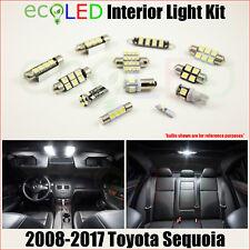 For 2008-2017 Toyota Sequoia WHITE LED Interior Light Accessories Kit 13 Bulbs