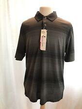 Grand Slam Men Big & Tall Performance Golf Polo Shirt - Grey - 2XLT