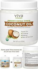 Organic Coconut Oil 100% Cold Pressed Extra Virgin Viva Naturals For Skin Hair